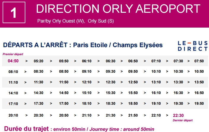 le bus direct orly car air france navette a roport d orly. Black Bedroom Furniture Sets. Home Design Ideas