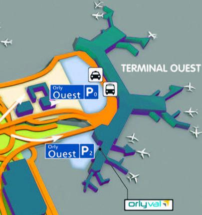 Terminal w orly ouest plan et parkings for Porte w orly