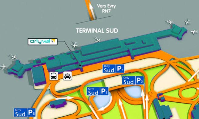 Guide a roport d orly paris for Porte w orly